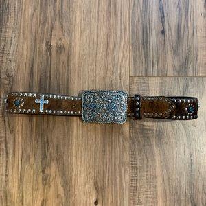 Nocona Leather Western Embellished Studded Belt